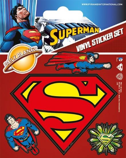 DC Superman Vinyl Stickers